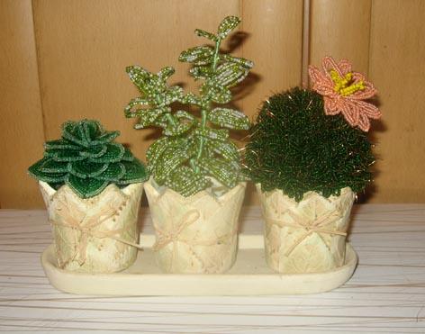 плетение бисером кактус.